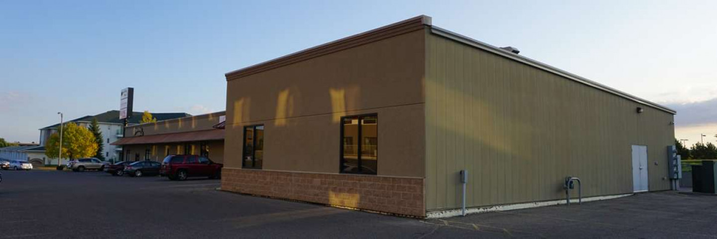 Exterior of Boneshaker Coffee Company in Bismarck, ND built by Creative Construction